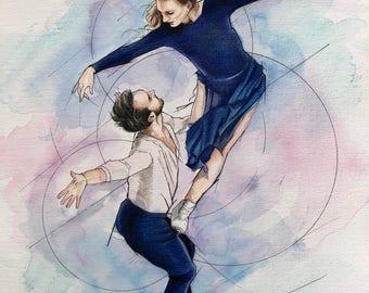 Moonlight Sonata (Gabriella PAPADAKIS & Guillaume CIZERON) A3 Signed Print