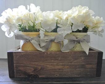 Rustic Planter Box, Rustic Home Decor, Wedding Centerpiece, Shabby Chic box, Table Decor, Organizing Box, Wood Planter Box, Flower Box,