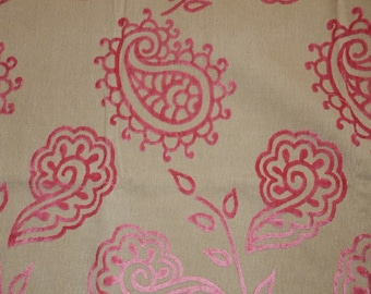 Beautiful fabric with velvety design