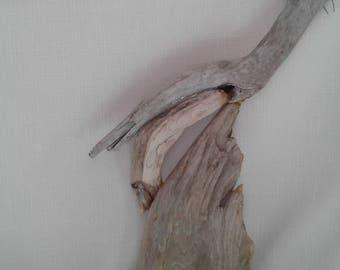 handmade driftwood seal art