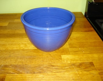 "PRICE REDUCED  Fiestaware Cobalt Mixing Bowl, Mint Condition, #4, 7 3/4"" diameter"