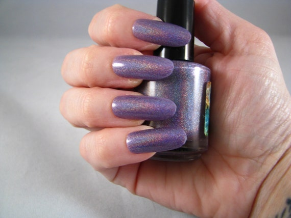 MagNEATO purple holographic nail polish from The Good Fight collection by Comet Vomit
