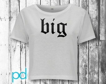 Big (Black Filled) N28 Women's Cropped Jersey Crop Top T-shirt