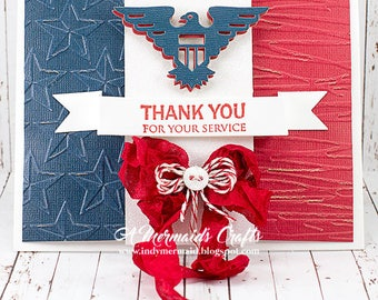 Patriotic Veterans Day / 4th of July Thank You for Your Service Military Greeting Card