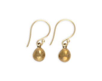 Gold Ball Earrings -  Bronze Ball Earrings - Round Earrings - Simple Gold Earrings -  Small Earrings  - Casual Earrings - Boho Jewelry