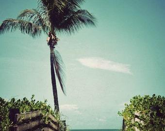 To the Beach - ocean photography, beach wall art, tropical decor, beach photograph, Florida Keys, home decor