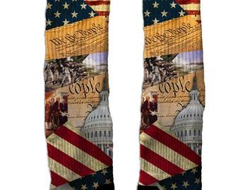 Custom Constitution elite crew socks