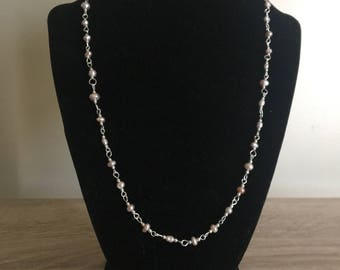 Light Pink Fresh Water Pearl Necklace