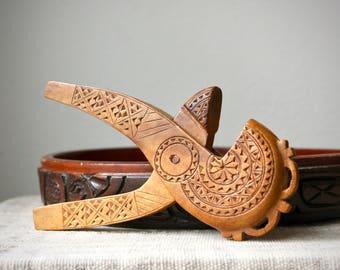 Vintage Folk Art Hand Carved Wooden Nutcracker