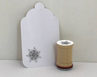 Zendoodle Mandala Flower Small Rubber Stamp