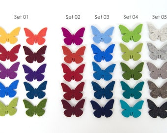 Quadu 10 Butterflies – felt – in many colors