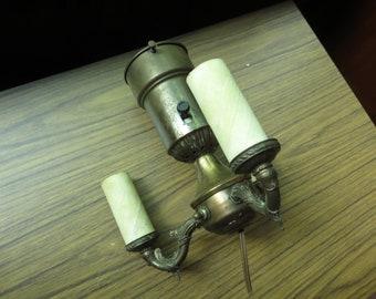 Vintage  Ornate 3 Bulb Light Cluster Socket Floor Lamp Part