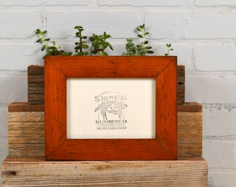 5x7 Picture Frame in Reclaimed Fir Bogart's Floor Style - IN STOCK Same Day Shipping - Natural Upcycled Wood Photo Frame 5 x 7