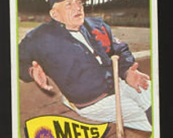CASEY STENGEL1965 Mets Manager Topps #167 Baseball Card VG+ Guaranteed Genuine