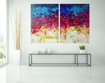 Abstract painting, acrylics, colorful, painting, art, painting, original art by Camilla Schima