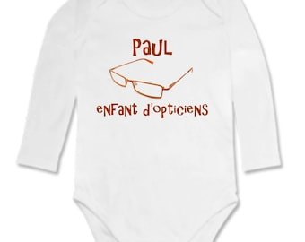 Bodysuit baby child opticians personalized with name