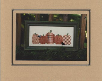 """Clearance - """"Pumpkin Row""""  Counted Cross Stitch Chart by Sekas & Co."""