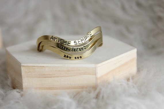 Personalized handstamped bracelet 4mm