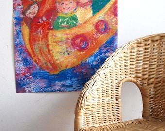 A2 poster Children's room Vikings