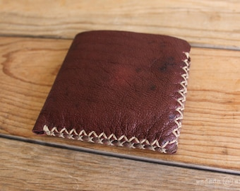 Two Tone Compact Deerskin Leather Wallet