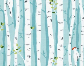 Baby Curtains, Nursery Curtains, Blackout Window Curtain Panels , Nursery, Baby, Michael Miller's Birch Forest, Woodland, Forest