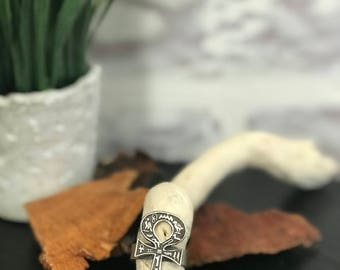 "Egyptian Ankh ""Key of life"" Silver Ring"
