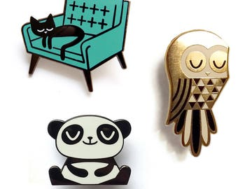 Peskimo Enamel Pin Badges 3 pack