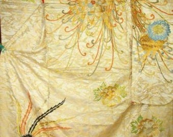 Japanese wedding kimono, vintage 1930 magnificent Reduced from 600