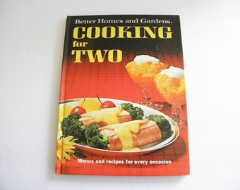 1968 Cooking for Two Cookbook Better Homes & Garden Hardcover