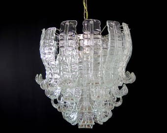 Italian Murano Six-Tier Felci Glass chandelier - 41 glasses
