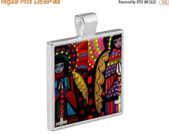 Virgin of Guadalupe Necklace Mexican Folk Art Jewelry - Pendant Metal  Gift Art Heather Galler Gift Vegan Gifts