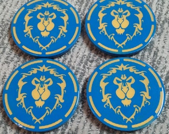 Set of 4 Alliance 3D Printed Coasters