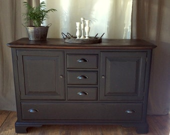 SOLD-Black Buffet Server~ Dresser~ Media Center~ Sideboard~Credenza~Shipping Not Included
