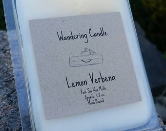 Lemon Verbena Soy Wax Melts - Citrus Scented Wax Tarts - Fruit Wax Melts - Highly Scented Soy Wax Melts - Lemon Melts