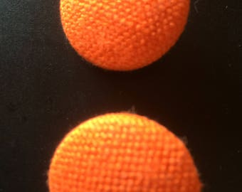 Fabric Buttons Orange