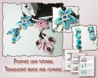 Polymer Clay Tutorial Translucent Flowers and Beads