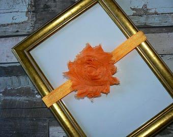 BandeauFleur shabby Orange 6/12mois