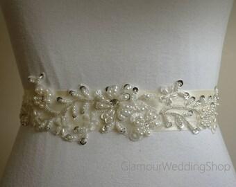 Pearl Belt Bridal Belt Sash Bridal Sash Belt Crystal Sash Rhinestone Belt Wedding Belt Sash Crystal Wedding Belt