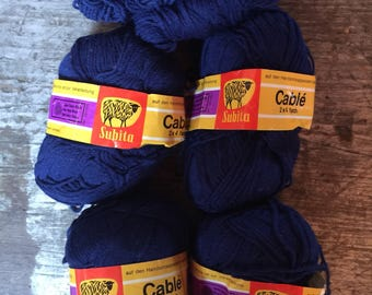 Subita Wool Yarn Skeins 50 grams West Germany