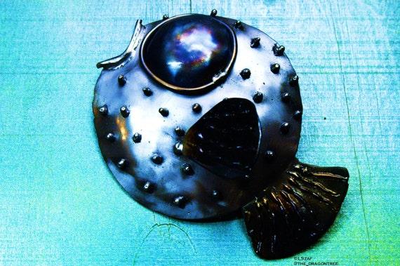 Paula the Pufferfish,metal wall decor,art gift under 50,art gift lake house,pices gift,