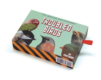 Troubled Bird Postcard Set of 50 - Birds - Animal - Mincing Mockingbird