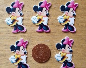set of 5 Minnie mouse flat backs