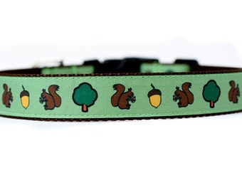 1 Inch Wide Dog Collar with Adjustable Buckle or Martingale in Awww Nuts an Exclusive Design