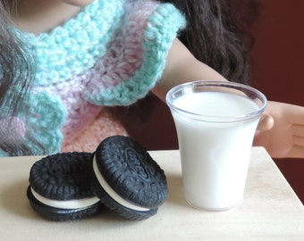 "Oreo Cookies Set of Two for American Girl and Other 18"" Dolls"