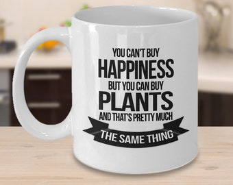 Plants Coffee Mug 11oz White Ceramic Cup Gardening, Garden Gift, Gardener Gift Idea, Gardening Mug, Florist Mug, Gardener Mug,