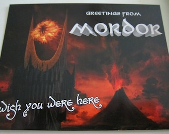 Lord of the Rings - Welcome to Mordor Postcard