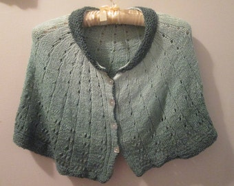 Gradient Greens Toddler Cape