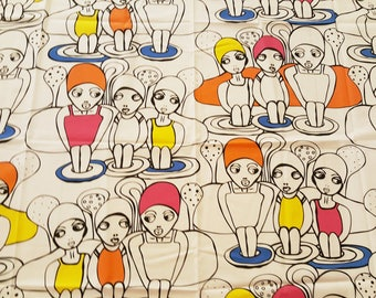 "Ikea Cotton Fabric - ""The girls"" Limited Edition - Karolina Palmér - 2012 (T32)"