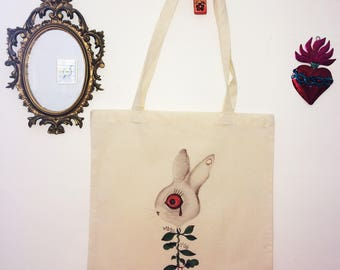 bag tote bags 100% organic drawing illustration created limited edition