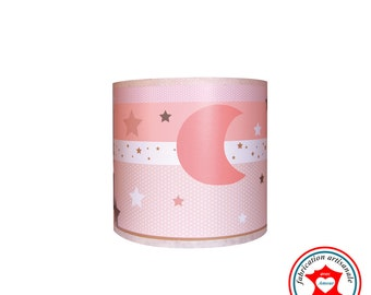 Child lamp Applique in pale pink sky